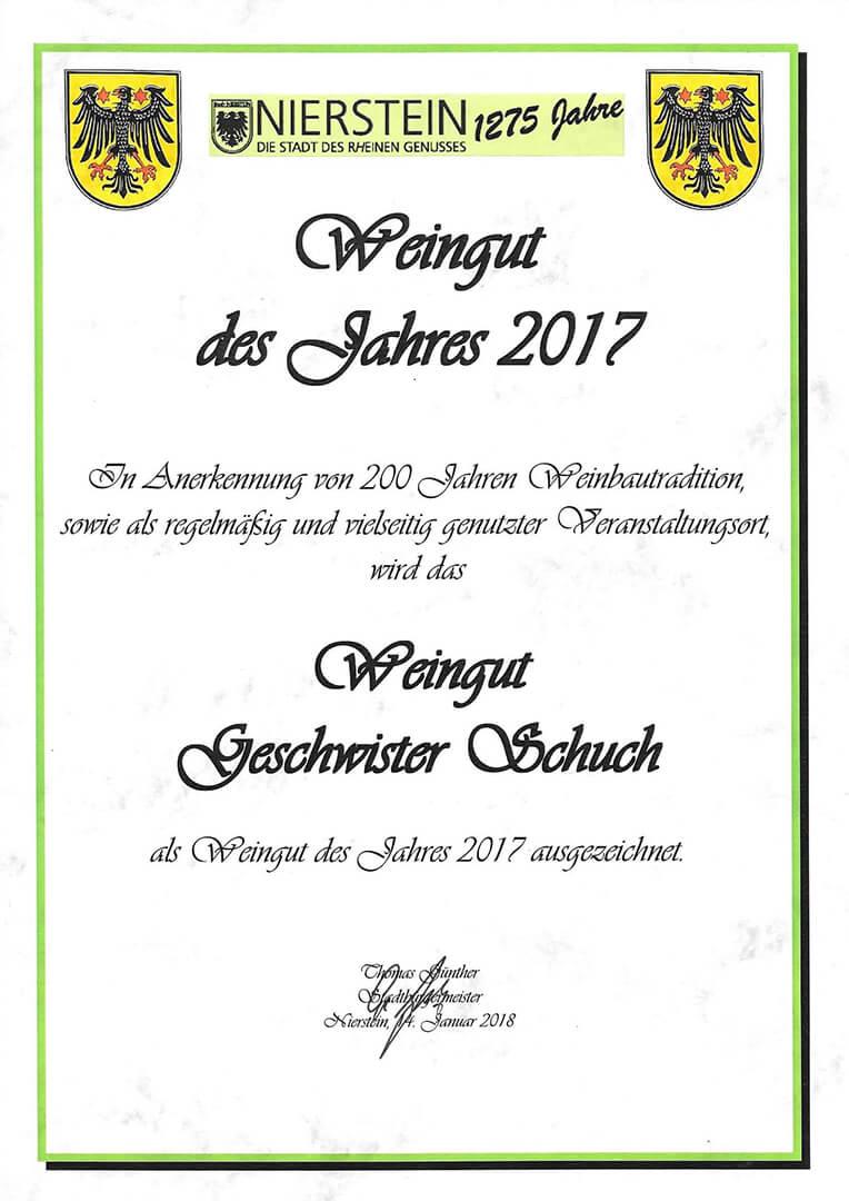 Weingut des Jahres 2017, Nierstein